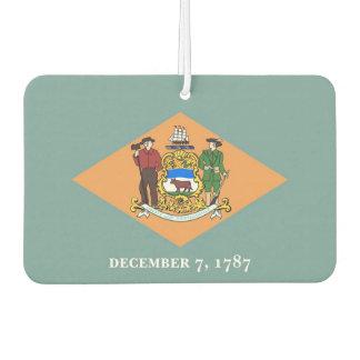 Auto-Lufterfrischer mit Flagge von Delaware, USA Autolufterfrischer