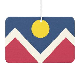 Auto-Lufterfrischer mit Flagge von Denver-Stadt, Autolufterfrischer