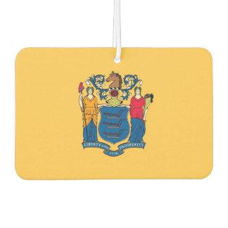 Auto-Lufterfrischer mit Flagge von New-Jersey, USA Autolufterfrischer