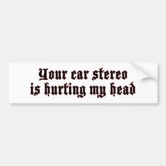 Auto-Stereolithographie, die verletzt (ruhigen) Autoaufkleber