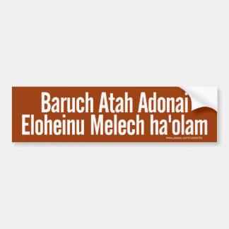 Autoaufkleber Baruchs Atah (weiß)