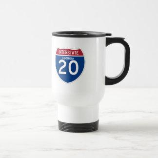 Autobahn-Schild Georgia GA I-20 - Reisebecher