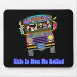 Autobus scolaire hippie tapis de souris