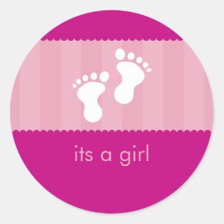 AUTOCOLLANT DE BABY SHOWER pieds heureux 14