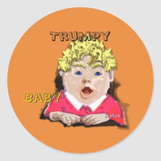 Autocollant de bébé de Trumpy