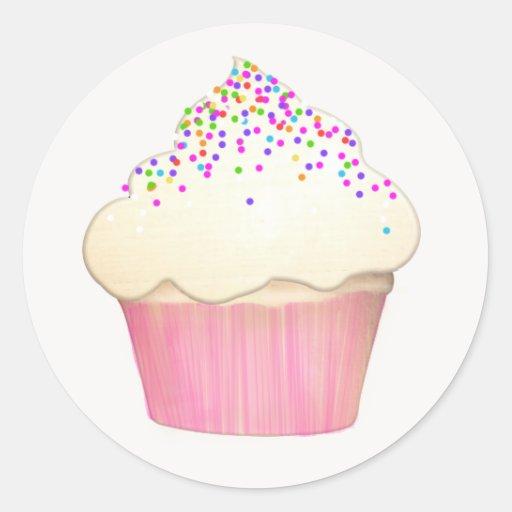 Autocollant de boulangerie de petit gâteau