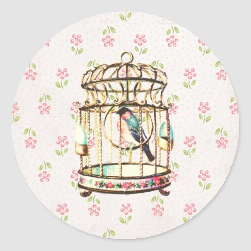 Autocollant de cru de cage à oiseaux