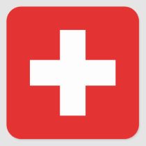 Autocollant de drapeau de la Suisse