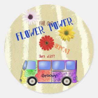 Autocollant de flower power