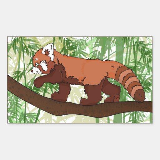 Autocollant de panda rouge