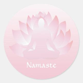 Autocollant de rose de fleur de pose de Lotus de
