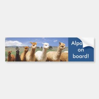Autocollant De Voiture Alpaga d'adhésif pour pare-chocs d'alpaga à bord
