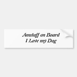Autocollant de voiture Amstaff
