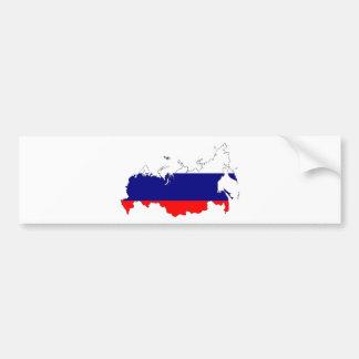 Autocollant De Voiture Carte de drapeau de la Russie