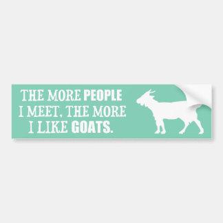 Autocollant De Voiture Plus j'aime des chèvres
