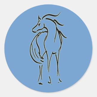 Autocollant d'illustration de cheval