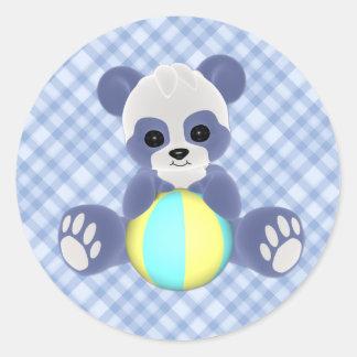 Autocollant espiègle de bébé de panda