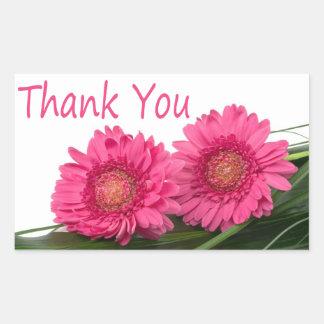 Autocollant floral de Gerbera de Merci de fleur