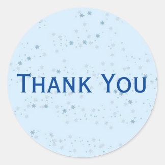 Autocollant tacheté bleu-clair chic de Merci
