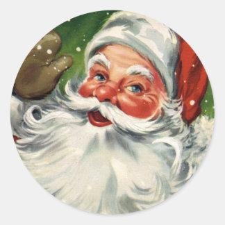 Autocollant vintage de Noël de KRW le père noël