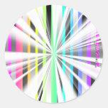 Autocollants abstraits de starburst