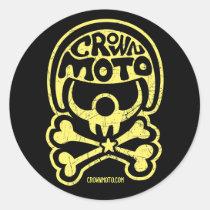 Autocollants de clown de cm Moto (jaune de cru)