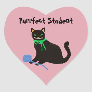 Autocollants de coeur d'étudiant de Purrfect