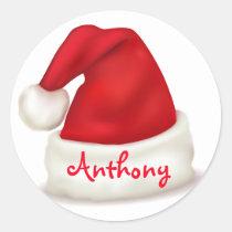 Autocollants de Noël/chapeau personnalisés de Père