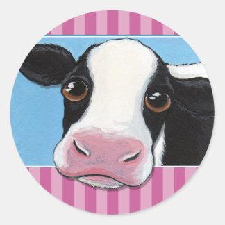 Autocollants de vache/joints lunatiques mignons