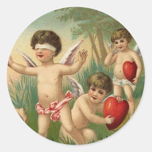 Autocollants de Valentine de l'ange espiègle
