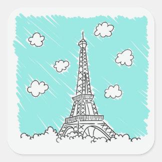 Autocollants d'illustration de Tour Eiffel
