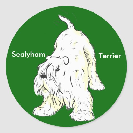 Autocollants espiègles de Sealyham Terrier