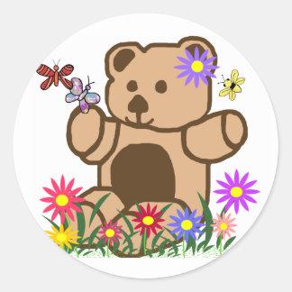 Autocollants espiègles d'ours de nounours