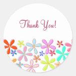 Autocollants floraux de Merci