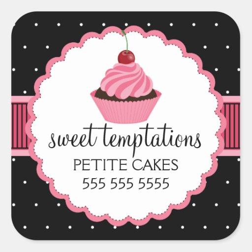 Autocollants lunatiques de rose de petit gâteau de