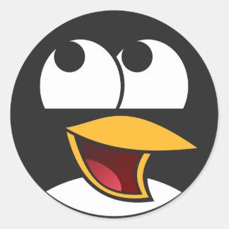 Autocollants riants heureux de pingouin