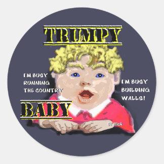 Autocollants ronds de bébé de Trumpy