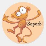 Autocollants superbes de récompense - singe
