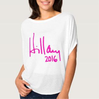 """AUTOGRAMM """"HILLARY 2016"""" T-Shirt"""