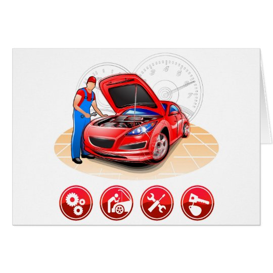 Automechaniker Grußkarte
