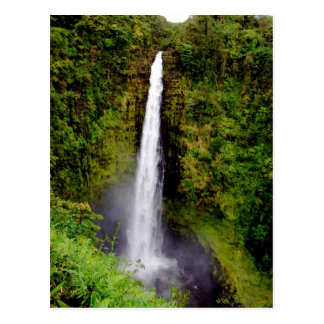 Automnes d'Akaka de cascade d'Hawaï Carte Postale