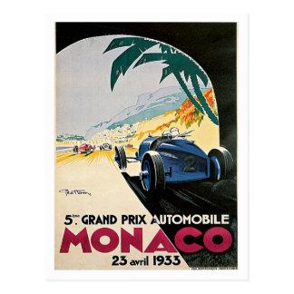 Automobil Monacos Grandprix Postkarte
