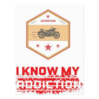 Automobil-Sucht Postkarte