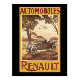 Automobile Renault Postkarte