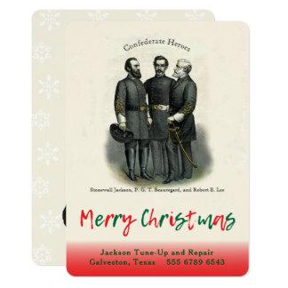 Automobilgeschäfts-Verbündet-Weihnachtsschablone 12,7 X 17,8 Cm Einladungskarte