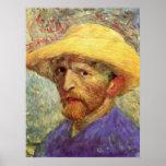 Autoportrait avec le chapeau de paille par Vincent Posters