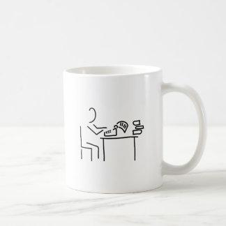 autor schriftsteller schreibmaschine kaffeetasse