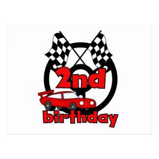 Autorennen-2. Geburtstags-T-Shirts und Geschenke Postkarte