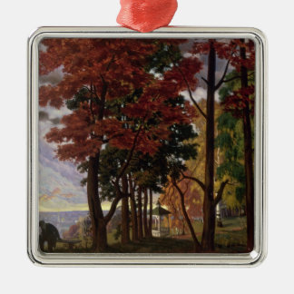 Autumn, 1918 quadratisches silberfarbenes ornament