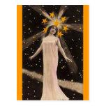 Avec des étoiles sur sa tête carte postale